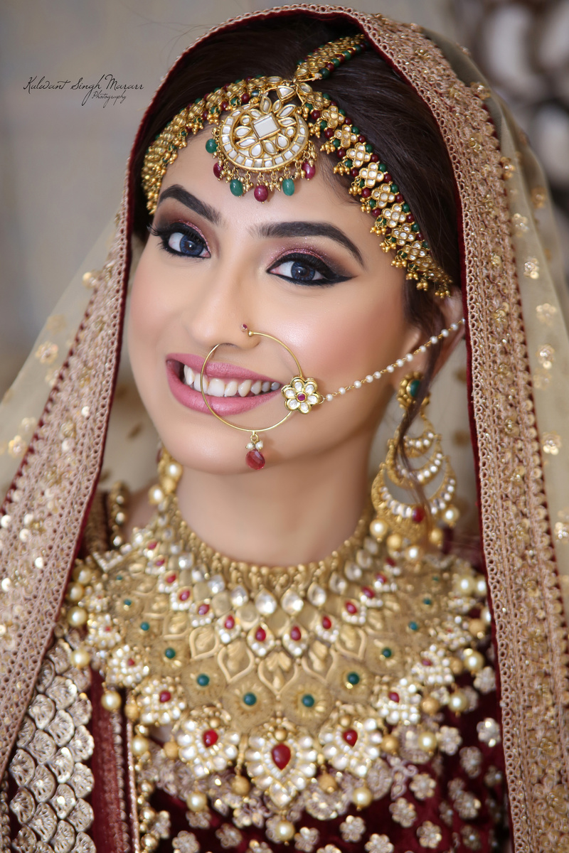 Red and green statement kundan bridal jewellery for Indian jewelry queens ny