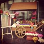 The decor prop for spring 2015 weddings is.. The Wheelbarrow