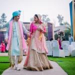 A Delhi wedding with vivid bursts of color