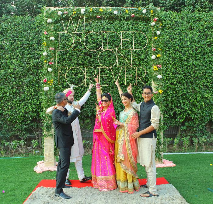 Adorable DIY Delhi Wedding With An Instagram-Worthy Photo