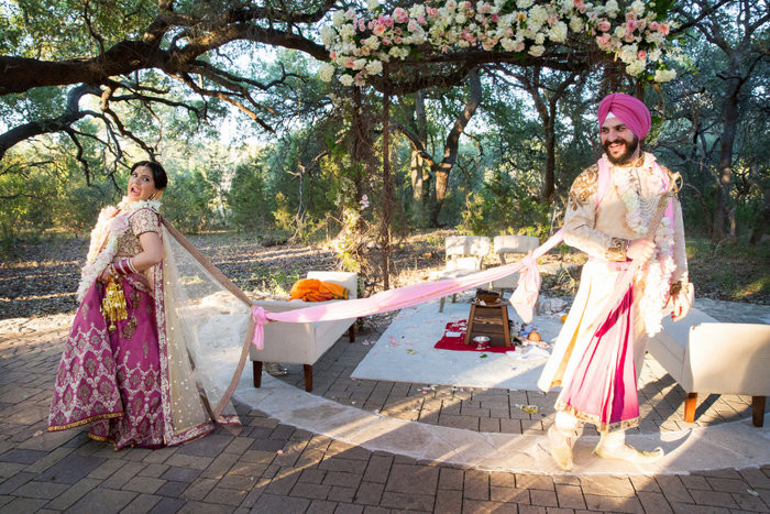 Punjabi Mela Meets Country Fair Wedding In Texas!