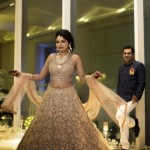 Chic Delhi Wedding With A Beautiful Floral Backdrop!
