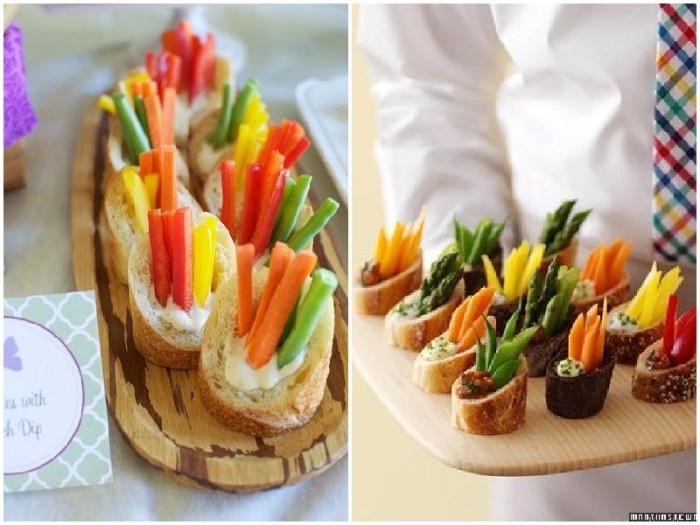 The most unique food display ideas for your wedding for Unique meals