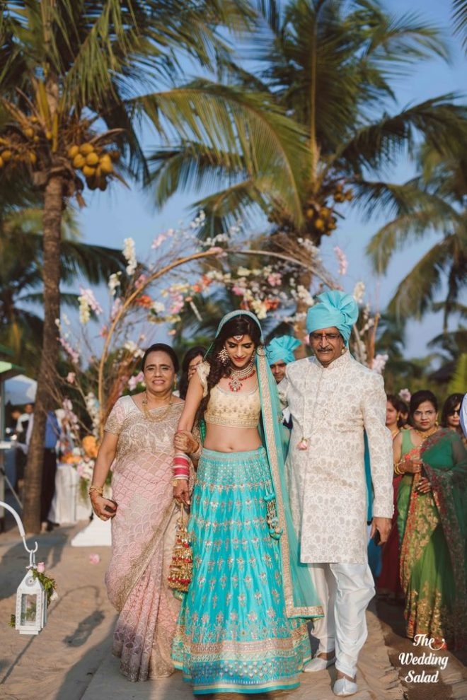 Vibrant Goa Wedding With Majestic Sunset Views During The