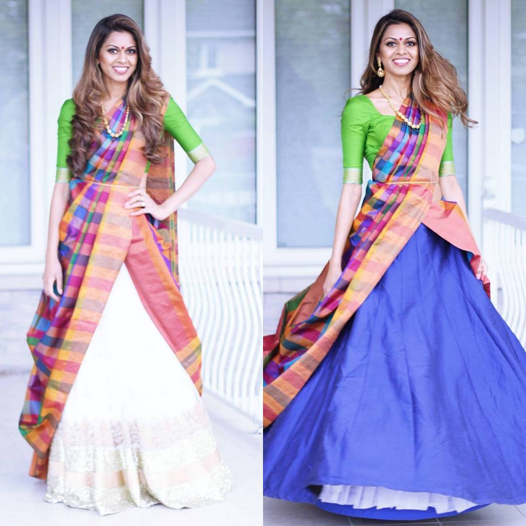 What S The Cancan Saree Drape This Cool New Way To Wear Your Kanjeevarams Is Totally Dope Wedmegood