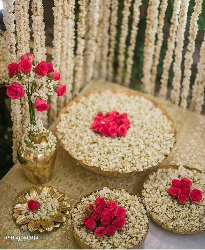 all the coolest ways you can use mogra in your wedding decor