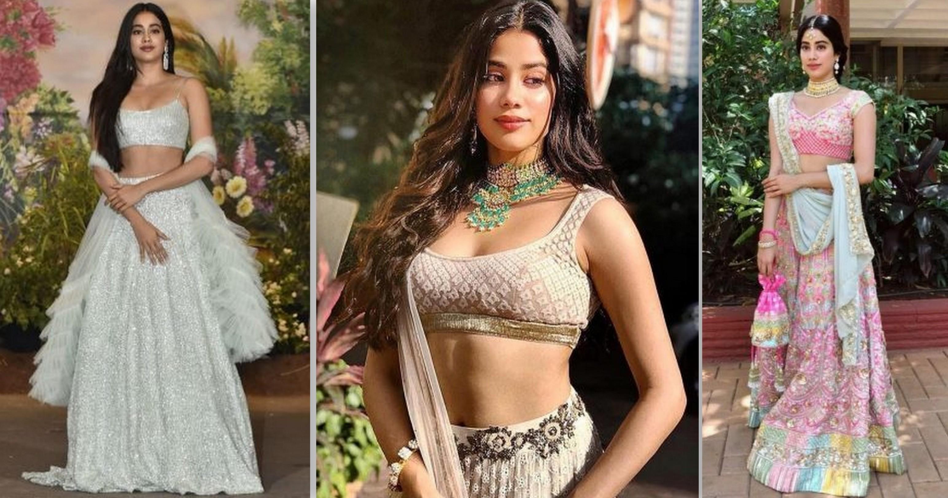 All The Lehengas Jhanvi Kapoor Ever Wore #BridesmaidGoals   WedMeGood