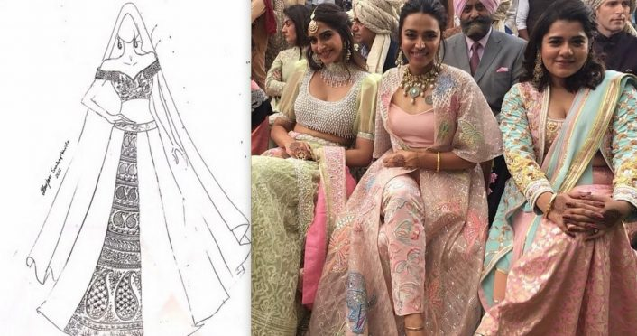 Veere Di Wedding Outfits.Abu Jani Sandeep Khosla Gave Us All The Outfit Details From