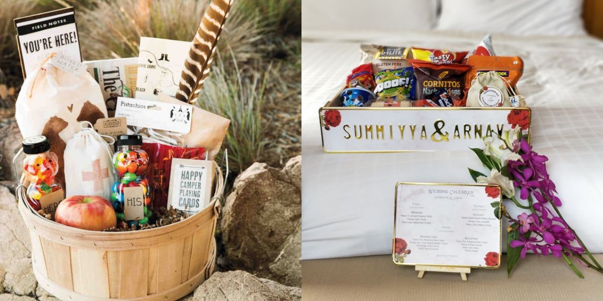 Some Cute Things To Include In Your 2019 Destination Wedding Welcome Hampers Wedmegood