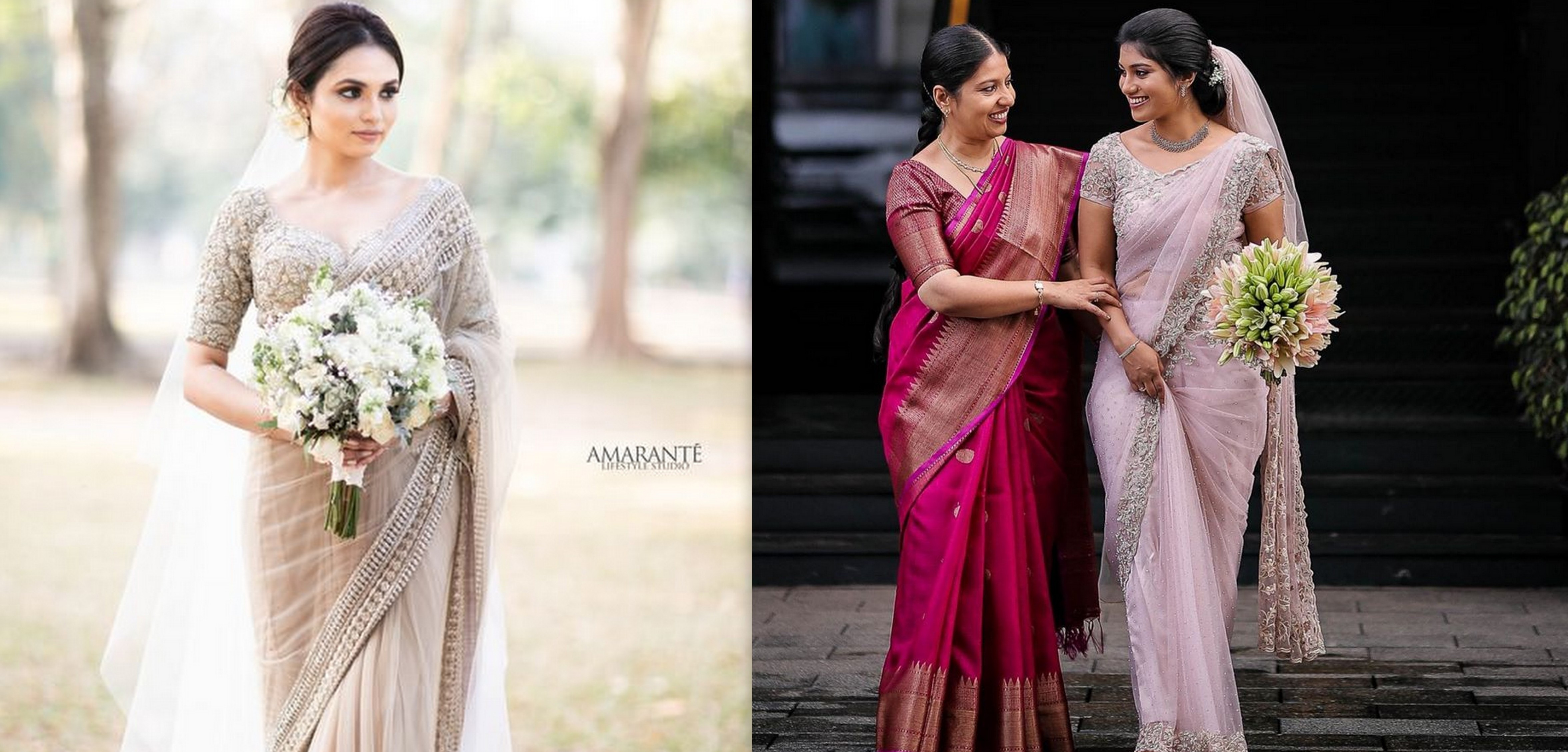 Christian Brides Who Donned The Most Breathtaking Sarees Wedmegood